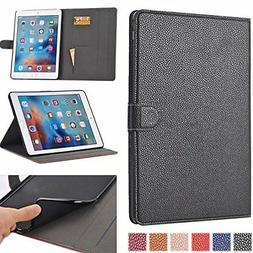 2017 New iPad Case, AiSMei Folio Flip Stand Case Smart Cover