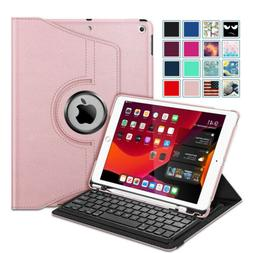 360 Degree Rotating Keyboard Case with Pencil Holder for iPa