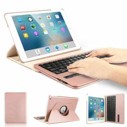 """360° Rotate Stand Folio ipad 9.7"""" Keyboard Case For 5th gen"""