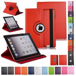 360 Rotating Leather Folio Case Cover Stand For Apple iPad 2