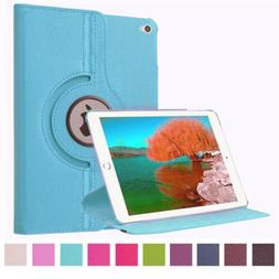 360° Rotating Leather Folio Smart Case Cover Stand For iPad
