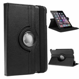 360 Rotating PU Leather Folio Case Cover Stand For Apple iPa