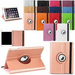 360 Rotating PU Leather Smart Cover Case For iPad 9.7 2017 5