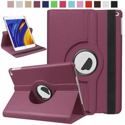 360 rotating shockproof leather smart case