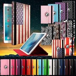 360 Rotating Smart Leather Stand Folio Case Cover for Apple
