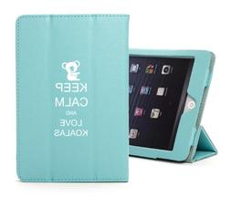 For Apple iPad Mini 4 Light Blue Leather Magnetic Smart Case