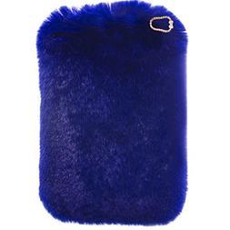 For iPad Pro 9.7 Plush Case, QKKE Cute Luxury Winter Soft Wa