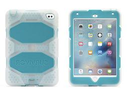 Griffin, iPad mini 4 Case with Stand, Clear and Blue Survivo