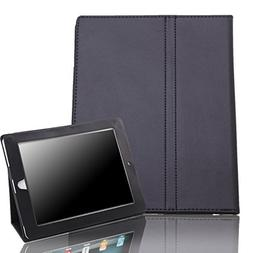 HDE iPad 1 Case - Slim Fit Leather Cover Stand Folio with Ma