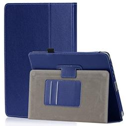 SAVEICON PU Folio Leather Case Cover with Built-in Stand for