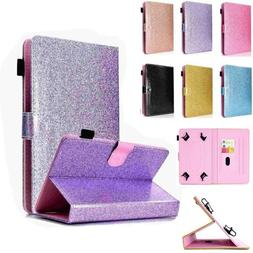 For All iPad Tabs Bling Leather Universal 6.5-10.5 inch Tabl