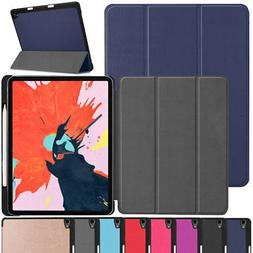 "For Apple iPad 11"" 12.9"" 3rd Gen 2018 Smart Stand Case with"