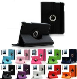 360 Degrees Rotating Stand Leather Case for Apple iPad Air 1