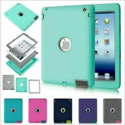 For Apple iPad 2 3 4 Air Mini Pro Tough Rubber Heavy Shockpr