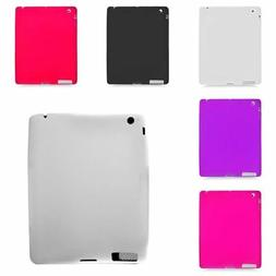 For Apple iPad 2 3 4 Rubber Silicone Skin Gel Soft Case Cove