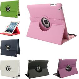 For Apple iPad 2 3 4th Generation 360 Rotating Leather Stand