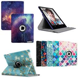 For Apple iPad 2 iPad 3 & iPad 4th Gen Swivel Leather Case C