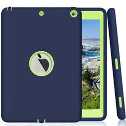 "For Apple iPad 6th Generation 9.7"" Tough Rubber Heavy Shockp"