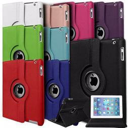 For Apple iPad 9.7 2018  360° Rotating Leather Smart Case C