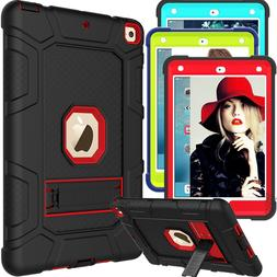 For Apple iPad 9.7 inch 6th Gen 2018 Shockproof Kickstand TP
