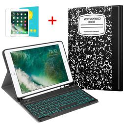 For Apple iPad 9.7 inch 6th Gen 2018 Case Cover Backlit Keyb