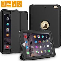 Newest Rugged Built-In Screen&KickStand Armor Case Apple iPa