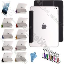 For Apple iPad Air/ iPad Mini Tr-Fold Case with Clear Back S