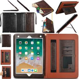 For iPad Air Pro  Smart Leather Wallet Flip Magnetic Strap C