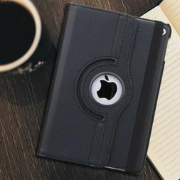 Apple iPad Case Leather 360 Rotating Shockproof Stand Cover