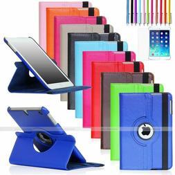 For Apple iPad Mini 2 3 4 iPad Air 360 Rotating Leather Foli