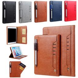 ForApple iPad mini Air Pro Smart Leather Flip Case Pen Holde