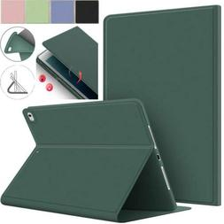 For Apple iPad Models Smart Leather Silicone Folio Stand Cas