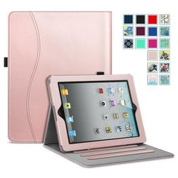 For Apple iPad Multi-Angles Folio Case Cover Stand with Pock