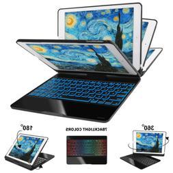"Backlit Bluetooth Keyboard Case For iPad 9.7"" 5/6th Air 3/2/"