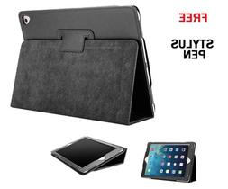 BLACK Flip Leather Stand Case Cover For Apple iPad Air2,NEW2