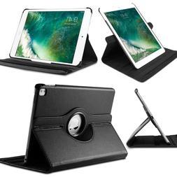 Black Smart Leather Case Cover for Apple iPad 2 3 4, 360 Deg