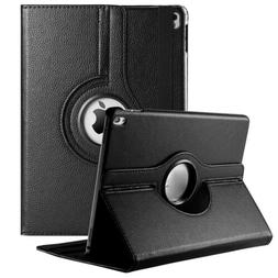 Black Synthetic Leather Smart Case Flip Tablet Cover For App