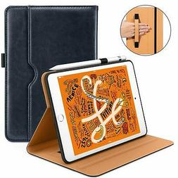 Blue Case For iPad Mini 5 2019 Leather Folio Stand With Appl