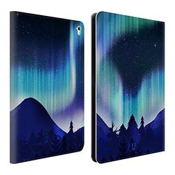 Head Case Designs Blue Pine Woods Northern Lights Leather Bo