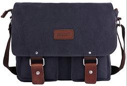 Tocode Canvas Messenger Bag 13 Inch Laptop Shoulder Bag for