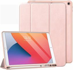 "MoKo Case Fits iPad 10.2"" with Apple Pencil Holder, Slim Lig"
