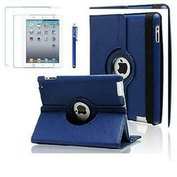 AiSMei Case for iPad 4 , Rotating 9.7 x 7.5 x 0.9 inches, Na