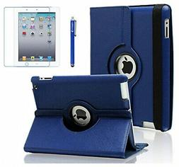 AiSMei Case for iPad 4 , Rotating Stand Case Cover for 9.7-i