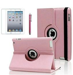 AiSMei Case for iPad 4 , Rotating Stand Case Cover for 9.7 P