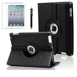AiSMei Case for iPad 4 , Rotating Stand Case Cover for AC-Q0