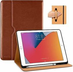 Case for iPad 7th Gen Leather Cover With Pencil Holder Auto
