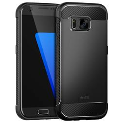 JETech Case for Samsung Galaxy S7 Shock-Absorption Carbon Fi