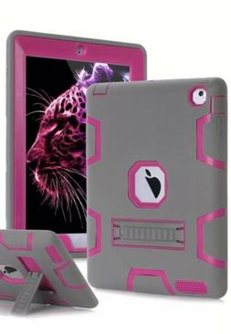 Topsky Case iPad 2 3 4 Case,Three Layer Armor Shock-Absorpti