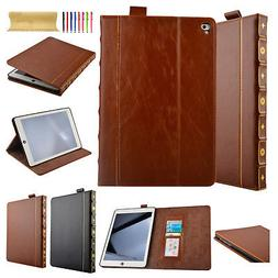 Classic Retro Vintage Book Case Leather Wallet Cover for IPA