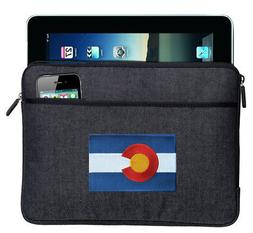 Colorado Flag IPAD SLEEVE BEST TABLET Denim Travel Sleeve &